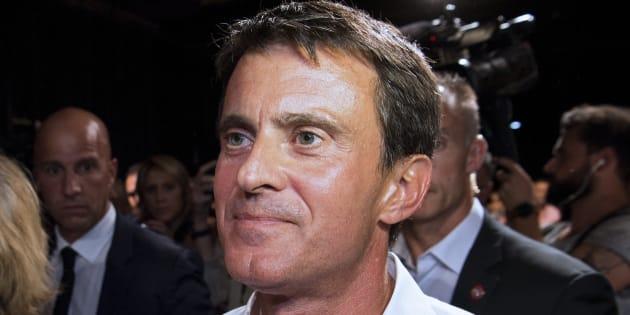 Manuel Valls au meeting de rentrée du Parti socialiste le 29 août 2016 à Colomiers, près de Toulouse.