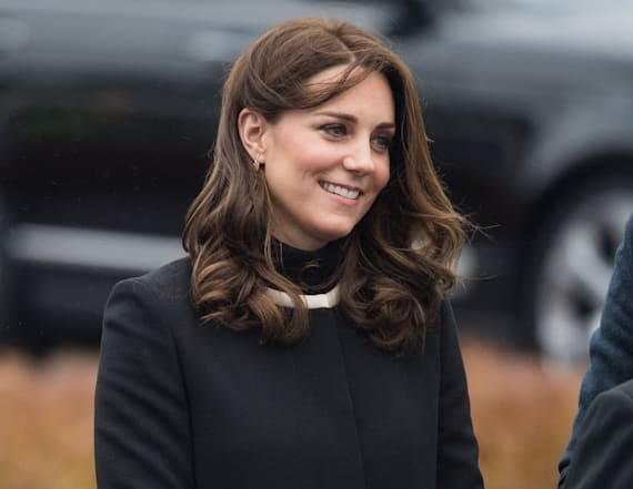 Duchess Kate shows off her driving skills