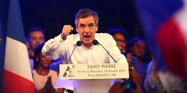 François Fillon en meeting à LA Réunion le 12 février 2017.