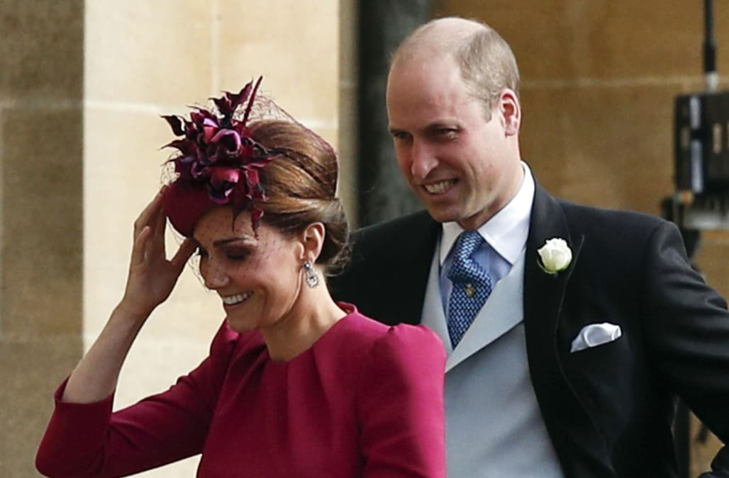 Princess Eugenie Wedding Televised.Duchess Kate Is A Vision In Pink Alexander Mcqueen At Princess
