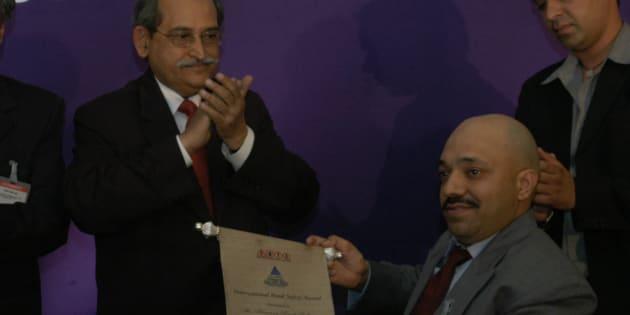 International Road Safety Awards-2005 Presented to Harman Singh Sidhu.