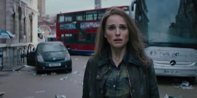 """Natalie Portman dans le rôle de Jane dans """"Thor: Le Monde des ténèbres""""."""