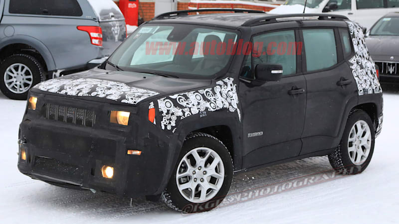 Jeep Renegade refresh spied with big infotainment screen