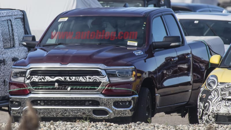 Commercial Truck Values >> 2019 Ram 1500 pickup grille loses traditional crosshairs in spy photos - Autoblog