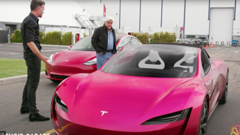 New Tesla Roadster Highlighted On Jay Lenos Garage Autoblog