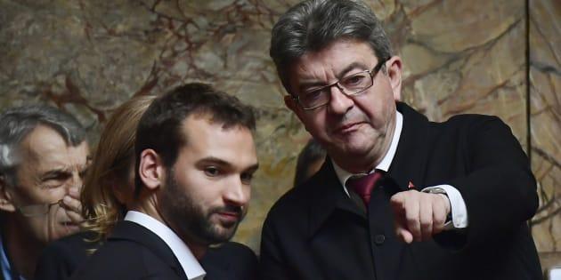 Jean-Luc Mélenchon (ici avec Ugo Bernalicis) va déposer une proposition de loi pour instaurer le Ric, référendum d'initiative citoyenne.