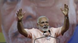 Modi Lashes Out At Sonia, Rahul At Bilaspur