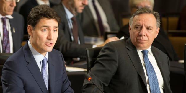 Justin Trudeau et François Legault ont abordé la question lors d'un souper avec les autres premiers ministres provinciaux, jeudi soir.