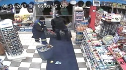 Dramatic Video Captures Calgary Store Clerk's Fight With Armed