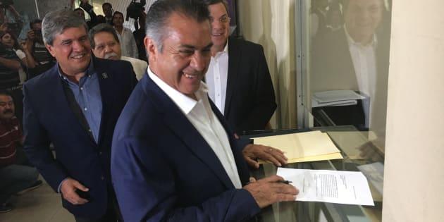 Jaime Rodríguez Calderón notificó al Congreso de Nuevo León su retorno a la gubernatura, tras haber pedido licencia hace seis meses.