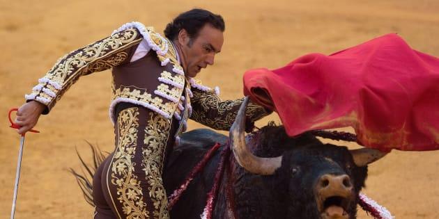 "Le torero ManuelJesusCidSalas alias ""El Cid"" à Séville en avril 2018"