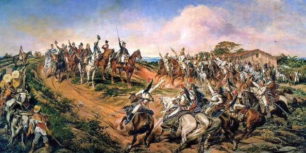 """Pintura """"Independência ou Morte"""", do pintor paraibano Pedro Américo (óleo sobre tela, 1888)."""