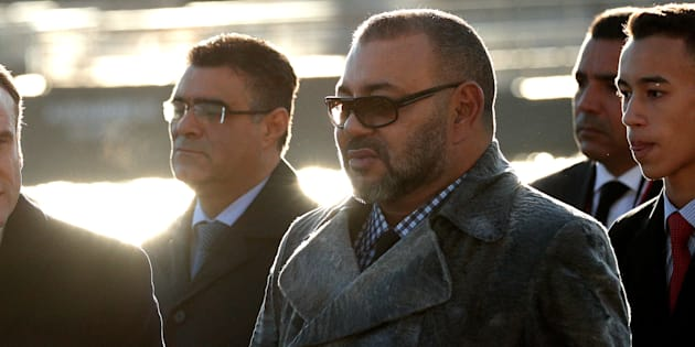 El rey Mohammed VI durante una visita a París.