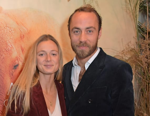 James Middleton and fiancée step out in London