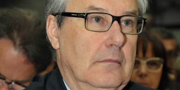 Pier Luigi Boschi durante l'assemblea dei soci di Banca Etruria il 04 maggio 2014. ANSA/ALESSANDRO FALSETTI