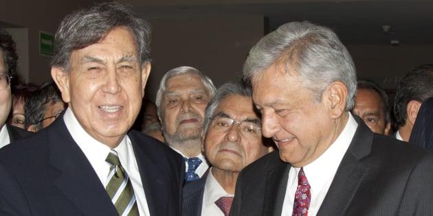 7 de febrero de 2012. El respaldo público de Cuauhtémoc Cárdenas, fundador de PRD, al entonces candidato presidencial Andrés Manuel López Obrador, en su segundo intento por llegar a Los Pinos.