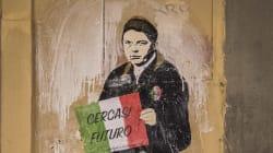 TvBoy colpisce ancora. A Firenze appare Renzi col cartello