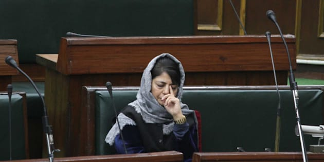 Mehbooba Mufti during the Budget Session in Legislative Assembly, on January 16, 2017 in Jammu, India.