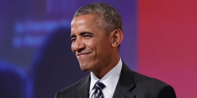 Barack Obama à Montréal le 6 juin 2017.