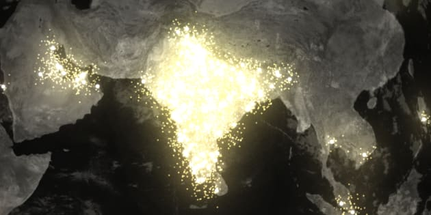 Google's Me Too Rising visualisation shows all of India brightly lit up with people searching for information about the movement.