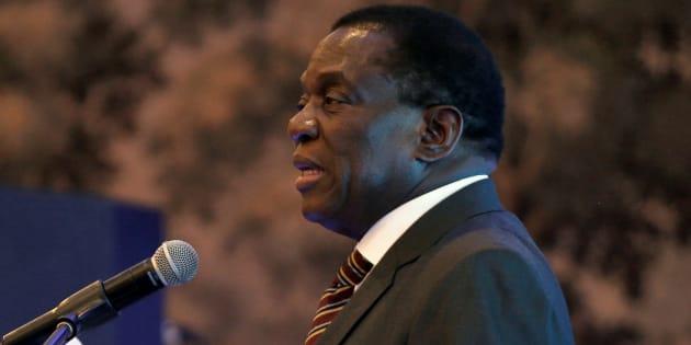 Zimbabwean president, Emmerson Mnangagwa.
