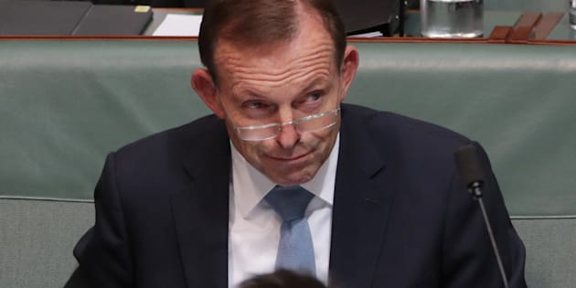 Tony Abbott during question time at Parliament House