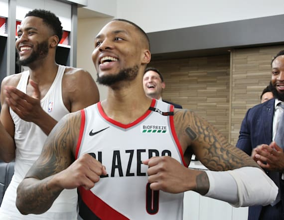 NBA players react to Damian Lillard's buzzer-beater