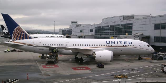Un avion de United Airlines sur le tarmac de l'aéroport de San Francisco (Image d'illustration).