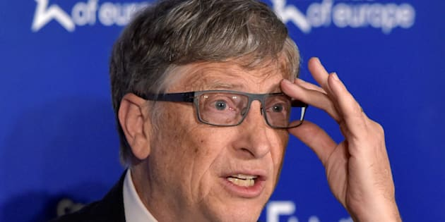 Microsoft founder Bill Gates delivers his speech during the 53rd Munich Security Conference in Munich, Germany, February 18, 2017.    REUTERS/Michaela Rehle