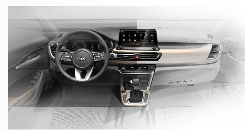 New sketches show Kia small SUV interior