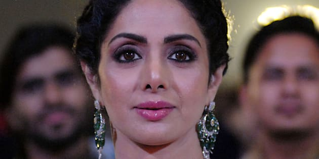 Bollywood actress Sridevi Kapoor attends the 'Umang Mumbai Police Show 2018' in Mumbai on Jan. 13, 2018. Sridevi died in Dubai on Saturday.