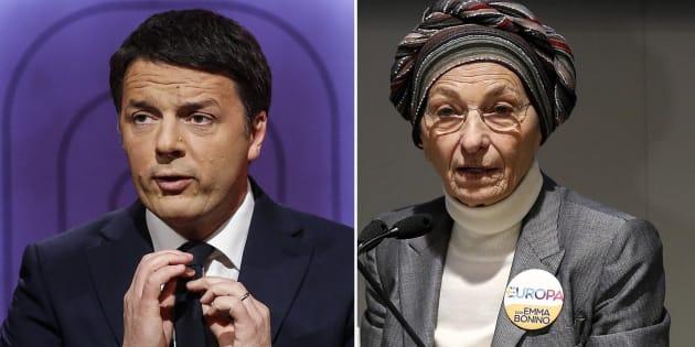 Renzi, il fuoco amico di Emma Bonino