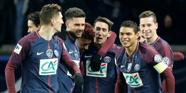 Coupe de France 1/4 de finale - Paris St Germain vs Olympique de Marseille - au Parc des Princes, Paris, France - le 28 février 2018