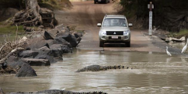 Crocodiles often lurk at Cahill's Crossing.