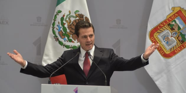 Enrique Peña Nieto, Presidente de la República Mexicana acompañó al gobernador Mexiquense, Alfredo del Mazo Maza, durante su Primer Informe de Labores, en el Palacio de Gobierno de Toluca, el 21 de septiembre de 2018.