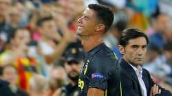 Ronaldo en larmes après avoir écopé d'un rouge pour son retour en