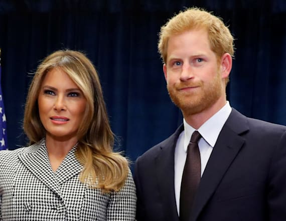 Prince Harry raises eyebrows with Melania Trump