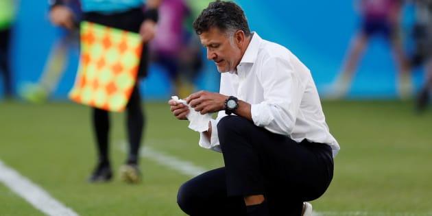 El entrenador Juan Carlos Osorio durante el partido contra Suecia, el 27 de junio de 2018.