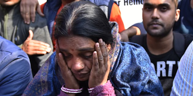 NEW DELHI, INDIA  DECEMBER 29: Mother of Nirbhaya, the victim of a fatal gang-rape in a moving bus on December 16, 2012, at a gathering on her daughter's third death anniversary on December 29, 2015 at Raj Ghat in New Delhi.