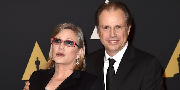 Carrie Fisher et son frère Todd aux Governors Awards d'Hollywood, le 14 novembre 2015.