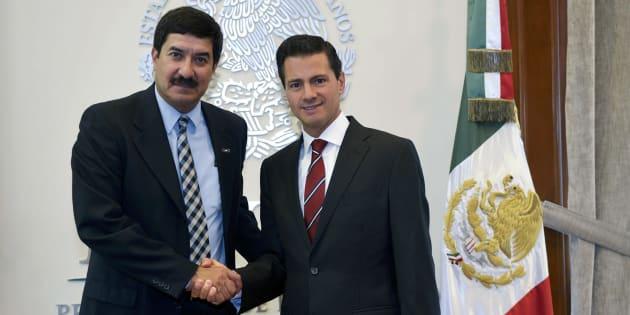Reunión en la Residencia Oficial de Los Pinos entre el gobernador electo de Chihuahua, Javier Corral Jurado, y el presidente Enrique Peña Nieto, en Ciudad de México, el 8 de septiembre de 2016.