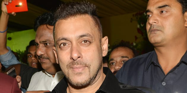 MUMBAI, INDIA JUNE 19: Salman Khan at Baba Siddiquis Iftar party at Taj Lands End in Mumbai.(Photo by Milind Shelte/India Today Group/Getty Images)