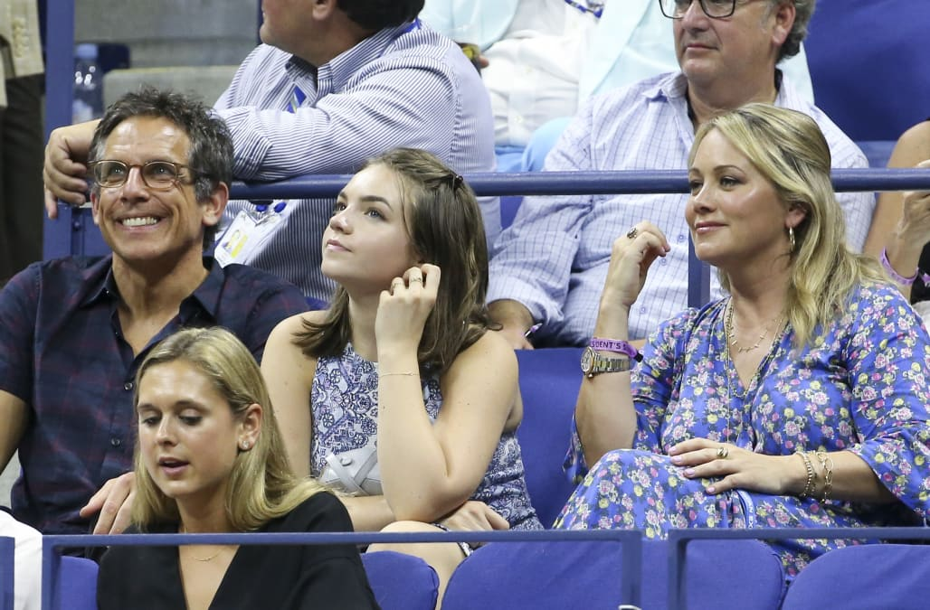 Ben Stiller all smiles with ex Christine Taylor and daughter Ella at