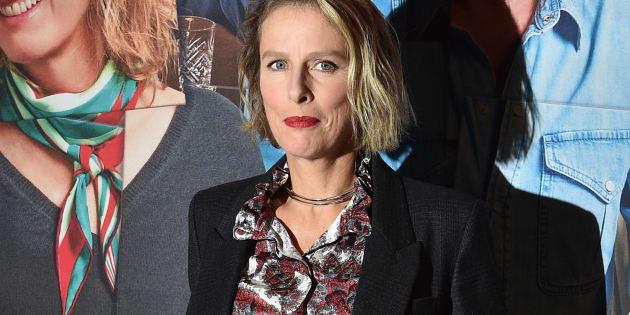 """Karine Viard, au mois d'octobre, à Paris, à l'avant-première du film """"Voyez comme on danse""""."""