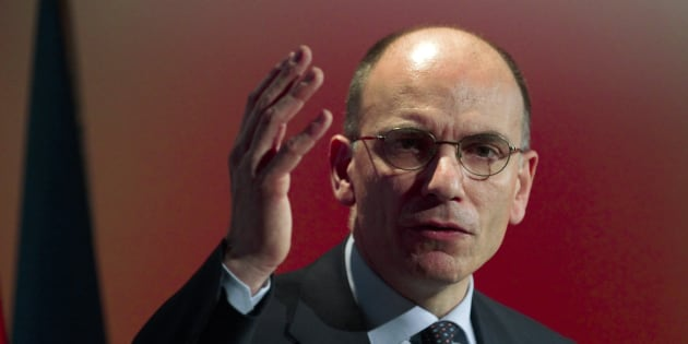 Italy's former Prime Minister Enrico Letta gestures as he delivers a keynote speech during an event in Madrid February 27, 2014.  REUTERS/Sergio Perez  (SPAIN - Tags: POLITICS)