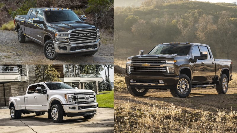 2020 Silverado Hd Compared With Current Heavy Duty Pickup Trucks