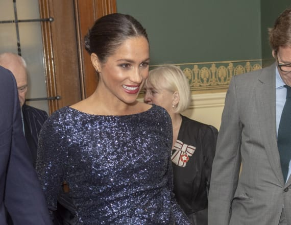 Meghan wows in show-stopping Roland Mouret gown