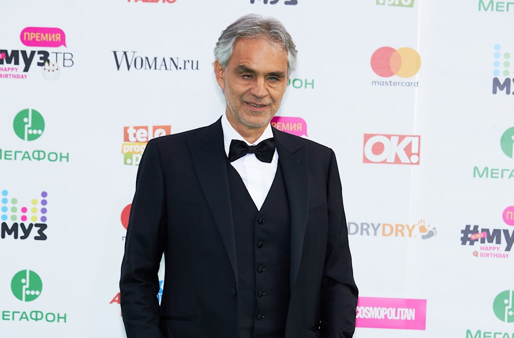 Andrea Bocelli enjoys beach day with his much younger