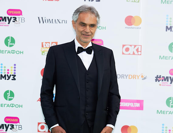 Andrea Bocelli and wife enjoy beach day