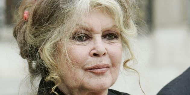 Brigitte Bardot après une rencontre à l'Élysée avec Nicolas Sarkozy, en septembre 2007.